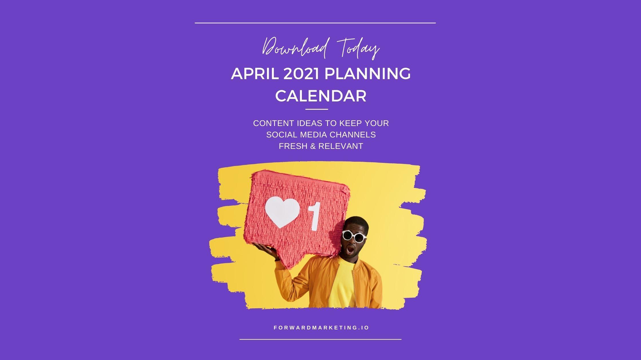 April Social Media Calendar